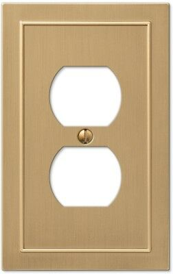 allen + roth Bethany 1-Gang Champagne bronze Single Duplex Wall Plate