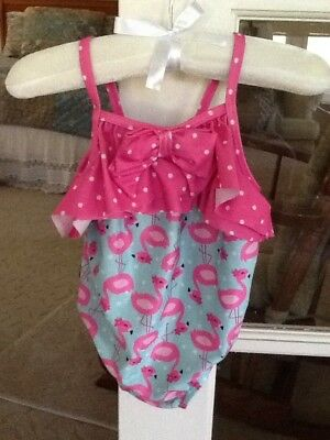 GYMBOREE Baby Pink Flamingo Ruffle One Piece Swimsuit - 12-18 Months