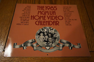 movie calendar MGM United Artists Diamond Jubilee Collection 1985 Hollywood vtg