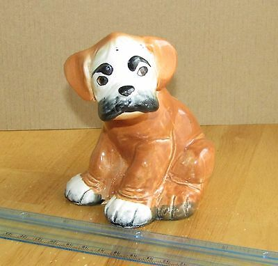 Vintage Melba Ware 'Bengo' Boxer Dog 1950's; H. Wain & Sons, Stoke on Trent