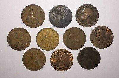25 Pre Decimal Old British 1d Pennies 1890s And Up English United Kingdom