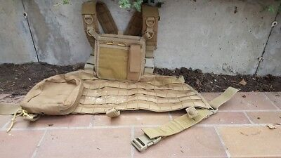Chest Rig Tan mit Pouches, Airsoft, Paintball, Softair, Schutzweste