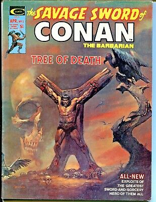 The Savage Sword of Conan the Barbarian 5, (April, 1975) Curtis Publications