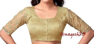 Readymade Saree Blouse, Golden Brocade Blouse, Designer Blouse, Readymade Blouse