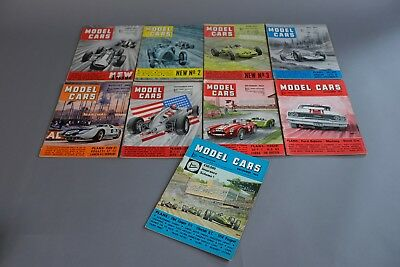MAP Hobby Magazine - Model Cars - first 9 issues 1964 Scalextric Cox Airfix etc.