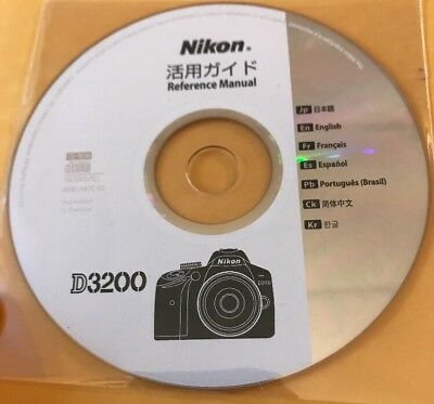 Nikon D3200 Reference Manual, CD, Multi -Lingual New(other)