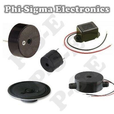 Miniature Electronic Buzzer / Speaker / Sounder : Various Types