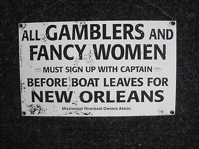 Vintage/old/antique Real Sign-New Orleans/mississippi-Authentic-Heavy Metal