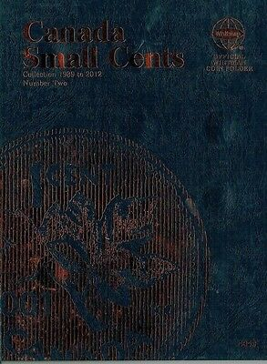 Whitman Canadian Small Cent Folder # Two with 36 Uncirculated Coins 1989-2012!