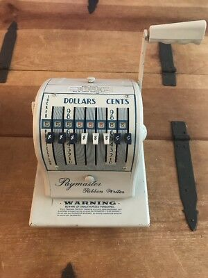 Vintage Paymaster Ribbon Writer Check Writer Series 8000 with Cover Beige