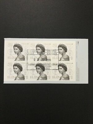 Canada Stamps USED Queen Elizabeth II 65th Anniversary Pane Of 6 (2018)