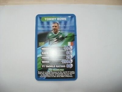 Signed Top Trumps Card World Cup 2015-Tommy Bowe-Ireland,ulster Rugby