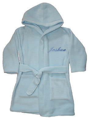 Boys Luxury Personalised Super Soft Fleece Dressing gown/ Bath robe