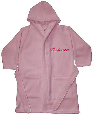Girls Luxury Personalised Super Soft Fleece Dressing gown/ Bath robe