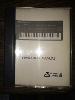 original 1986 SEQUENTIAL CIRCUITS Operation Manual for PROPHET-VS Synthesiser