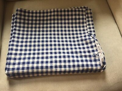 Antique French Linen KELSCH Large Duvet Cover Blue and White