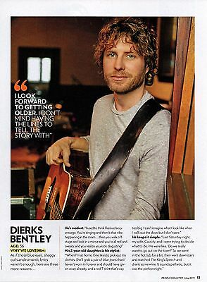 Dierks Bentley 1 Page 2011 Magazine Picture Clipping