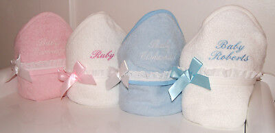 Personalised Lace Baby Hooded Bath Towel