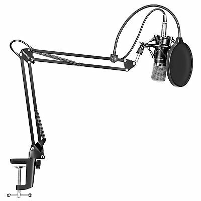 NEW Neewer NW-700, NW-35 Arm Stand, and NW-100 Power Supply Microphone System