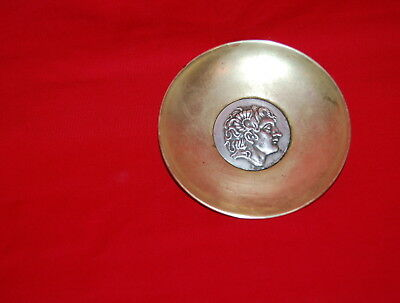 Ilias Lalaounis Greece  Sterling Silver Brass Alexander The Great Small Plate