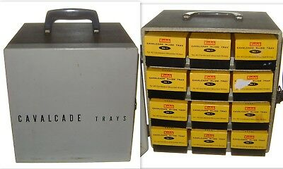 Vtg 1960's KODAK Cavalcade No 1 Metal Slide Tray Carrier! Holds 480 Slides!