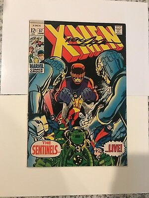 The X-Men #57 (Jun 1969, Marvel) - Signed with Neal Adams Sentinel Sketch