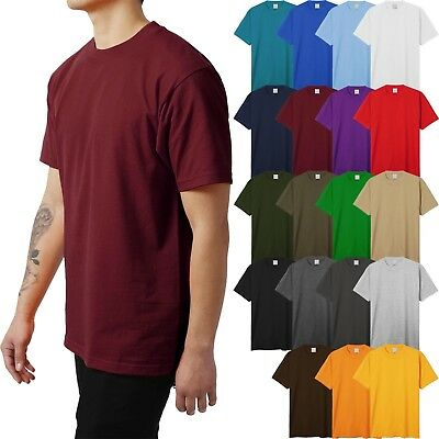 Mens HEAVY WEIGHT T Shirts Blank Plain Basic Tee BIG AND TALL 2X UP Casual KS