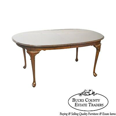 Ethan Allen Georgian Court Solid Cherry Queen Anne Dining Table