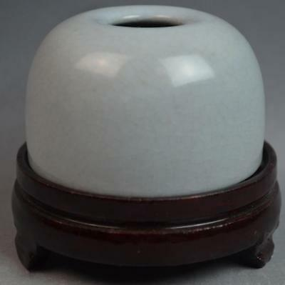 Chinese Crackled Celadon Porcelain Brush Washer