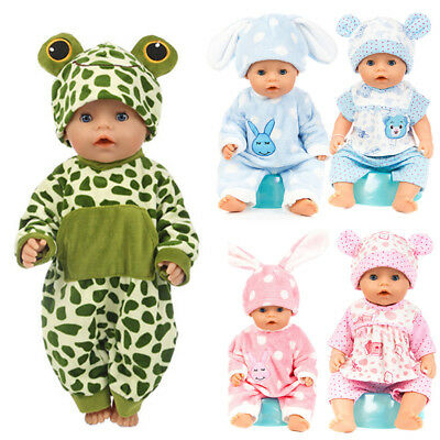 Flannel Jumpsuit Doll Pajamas sleeping clothes for 40-50cm Baby Born Doll.new