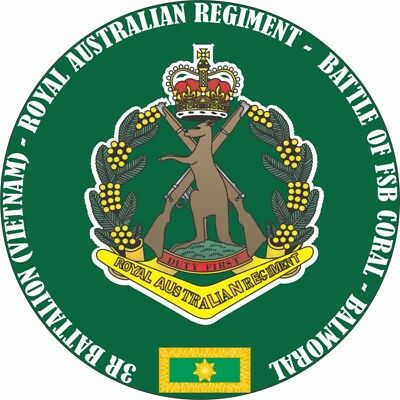 3Rd Battalion Rar Battle Of Fsb Coral -Balmoral Laminated Vinyl Sticker 110Mm