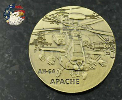 U.S. Army / AH-64 Apache - Bronze Challenge Coin airman collectible Collector