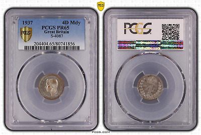 1937 Fourpence 4D Great Britain UK Maundy PROOF PCGS PR65 FDC
