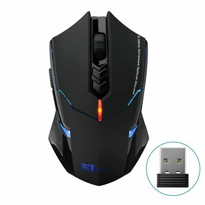 2.4G Wireless LED Backlight Gaming Mouse 7 Button Mice 2400 DPI for Laptop PC