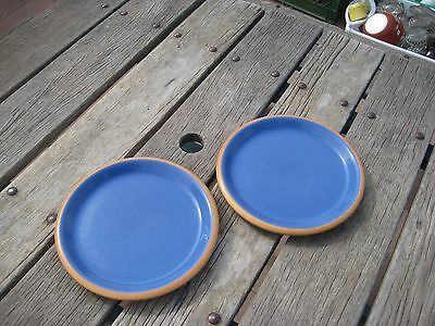 "Vtg 9"" Diameter * CROWN CORNING - Sonora & Blue * Luncheon Plate Set of 2 JAPAN"