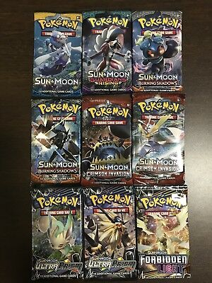 9 x Pokemon Booster Pack – New & Sealed – Pokemon TCG Sun & Moon Guardians ...