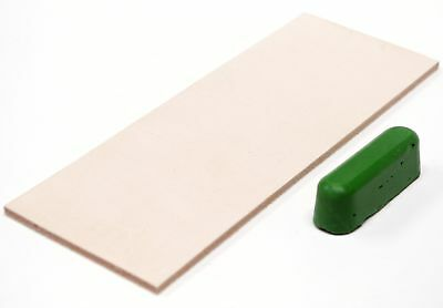 Leather Honing Strop 3 Inch by 8 Inch with 1oz. Green Compound by Garos Goods