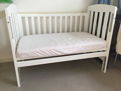 Childcare Sussex XT Convertible Cot - solid timber white