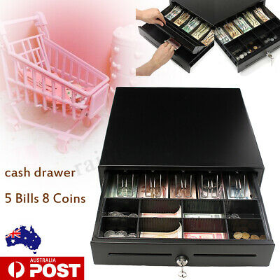 🔥STANDARD SIZE Solid Metal CASH DRAWER/TILL/DRAW 5x Note,8x Coin Electronic POS