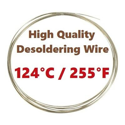 Low Melting Point Temperature 124°C/255°F Solder Wire Bi55.5Pb44.5 1mm 1m/3.3ft