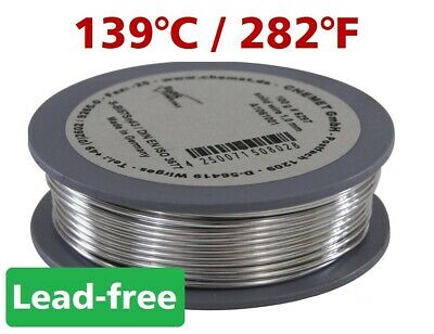 Rare Low Melting Point Temperature Soldering Wire Bi57Sn43 1mm 100g Without Flux