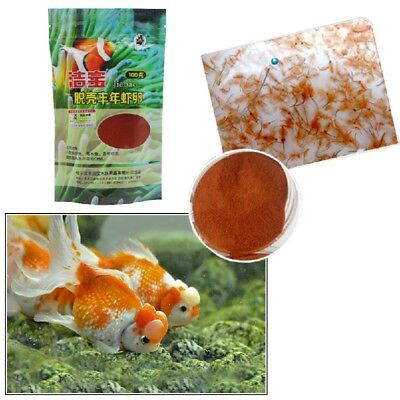 100g Fish Food Feeding Brine Shrimp Eggs Artemia Cycts Ocean Healthy Nut. w Z0G4