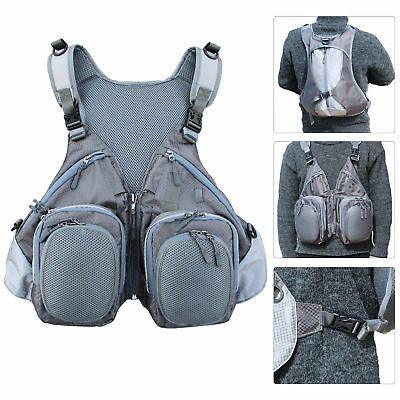 Fly Fishing Vest Combo Mutiple Function Backpack Bag For Outdoor Sports Fishing