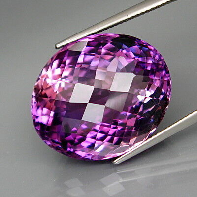 32.70Ct.Real Natural GIANT Amethyst Bolivia None Treatment Full Fire&Eye Clean
