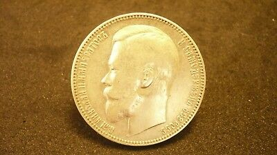 "Rubel Silber 1901 "" Nicolaus"" 900 Silber"