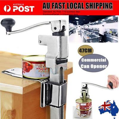 Stainless Steel Large Can Opener Counter Commercial Bench Top Table Mount AU