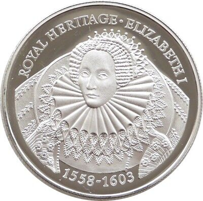 1996 Falkland Isl Royal Heritage Elizabeth I £2 Two Pounds Silver Proof Coin