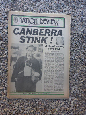 Vintage Aus Nation Review Newspaper. September 6 1974 - Canberra Stink