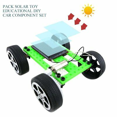 Mini Handmade Solar Powered Toy Children Educational Gadget Hobby DIY Car Kit ZJ