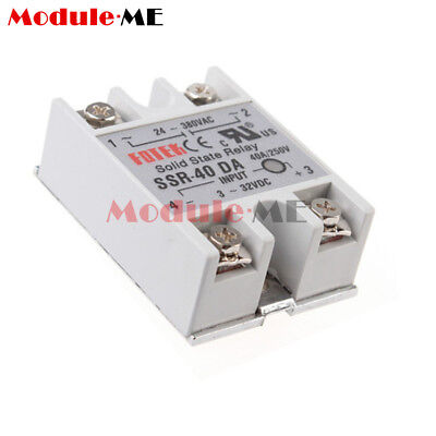 24V-380V SSR-40DA 40A 3-32V DC-AC Solid State Relay Module for Arduino UK